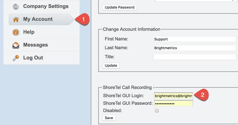 Mitel (ShoreTel) Call Recorder Integration: Calls Not
